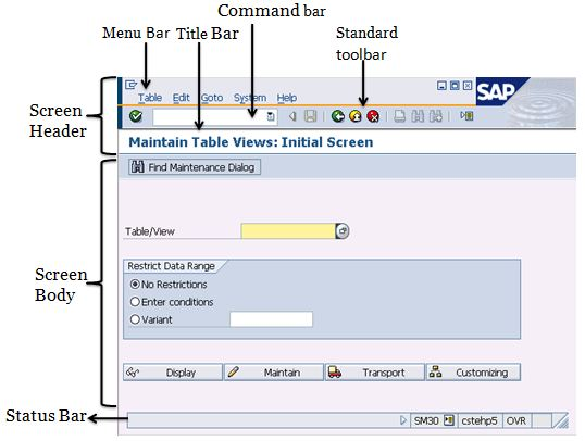 SAP Easy Access DescriptionSAP Screen  SAP Training Tutorials