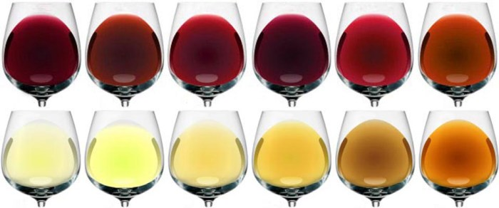 Cores vinho