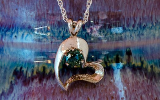 Sterling Silver Montana Sapphire Heart