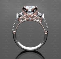 3.25ct White Diamonds and Gold Premier 290 Engagement Ring