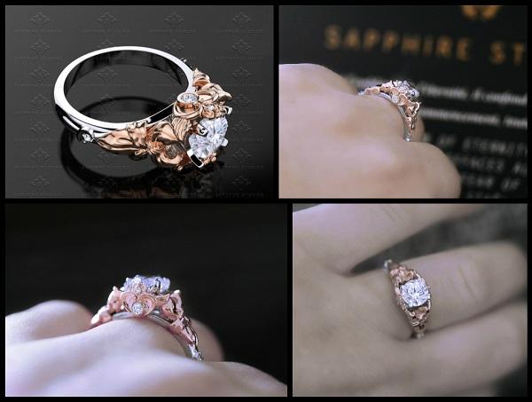 Prism 125ct Opal Natural Diamond Gold Sailor Moon Ring