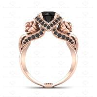 'L'amour' 1.65ct Natural Black Diamonds Rose Gold ...