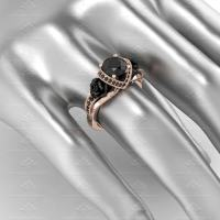 'L'amour' 1.65ct Natural Black Diamonds Rose Gold ...