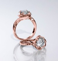 'Luvia' 1.00ct Rose Gold Flower Engagement Ring