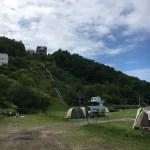 小樽のジャンプ台はキャンプ場