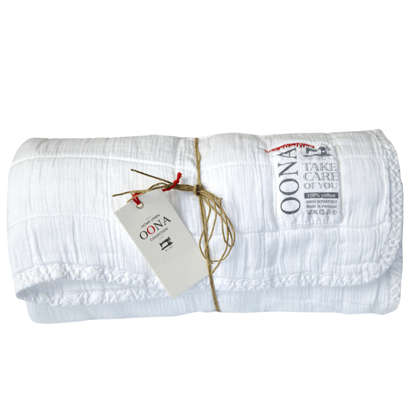 Couvre lit / Plaid en coton lavé 230x250cm