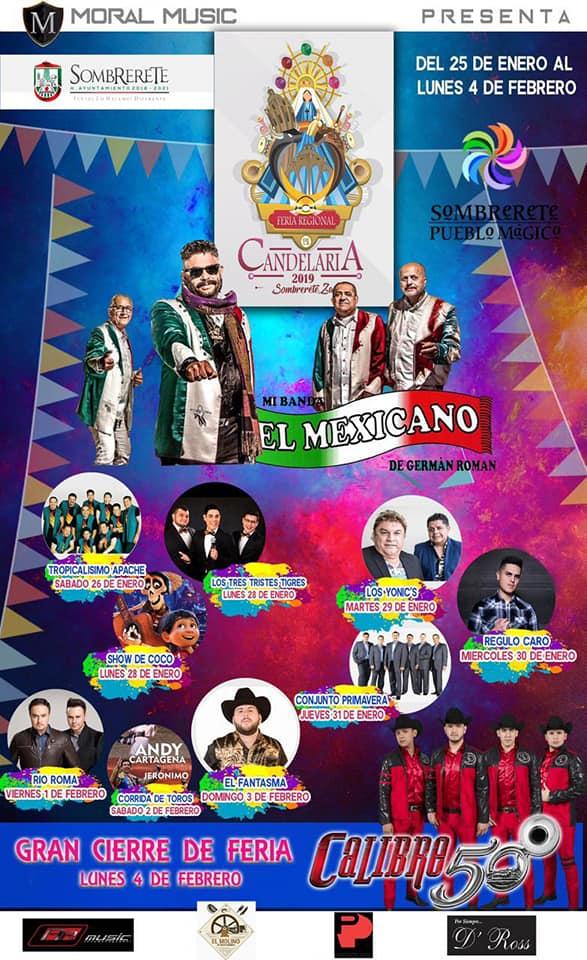Feria Regional de la Candelaria, Cartelera Oficial