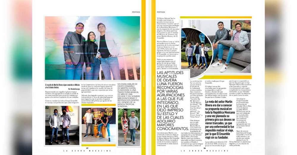 Portada La Gorda Magazine Agosto 2020, Grupo Ensamble