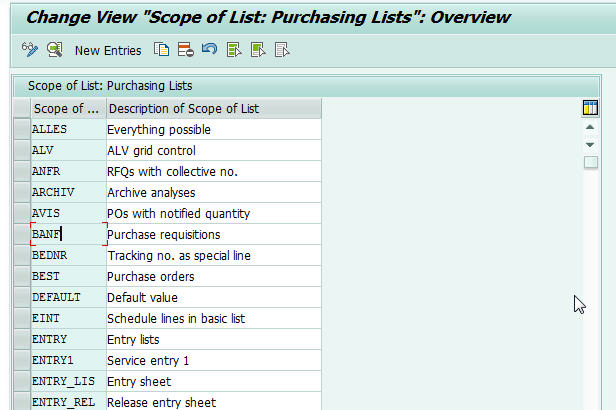 How to changing the purchase order list display - SAP Tutorial
