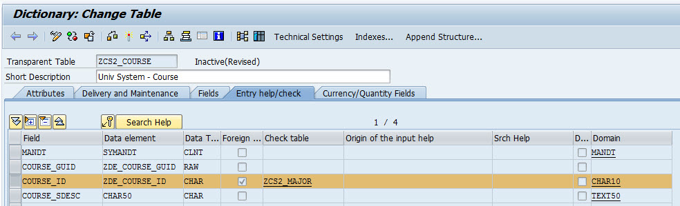 How to creating foreign keys in SAP Table - SAP Tutorial