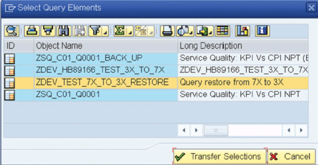 how-to-restore-sap-bw-query-from-version-3-to-7