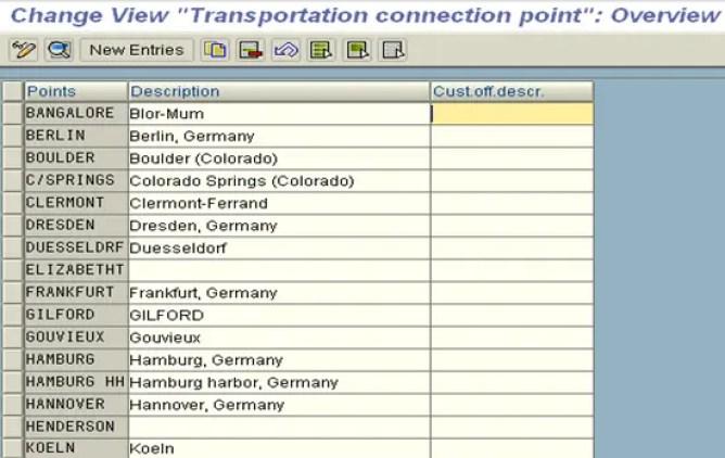 Define Transportation Connection Point