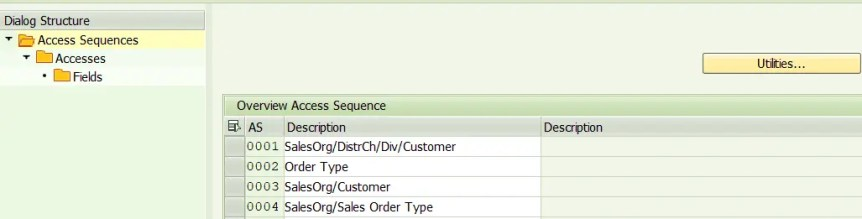 Define Access sequence