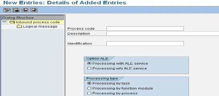 Create Inbound process code (WE42)