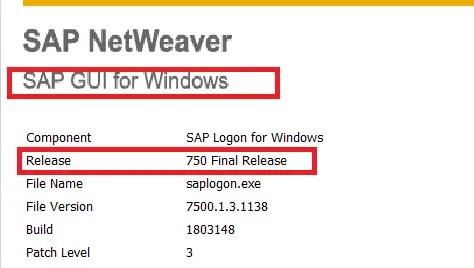 SAP GUI for Windows