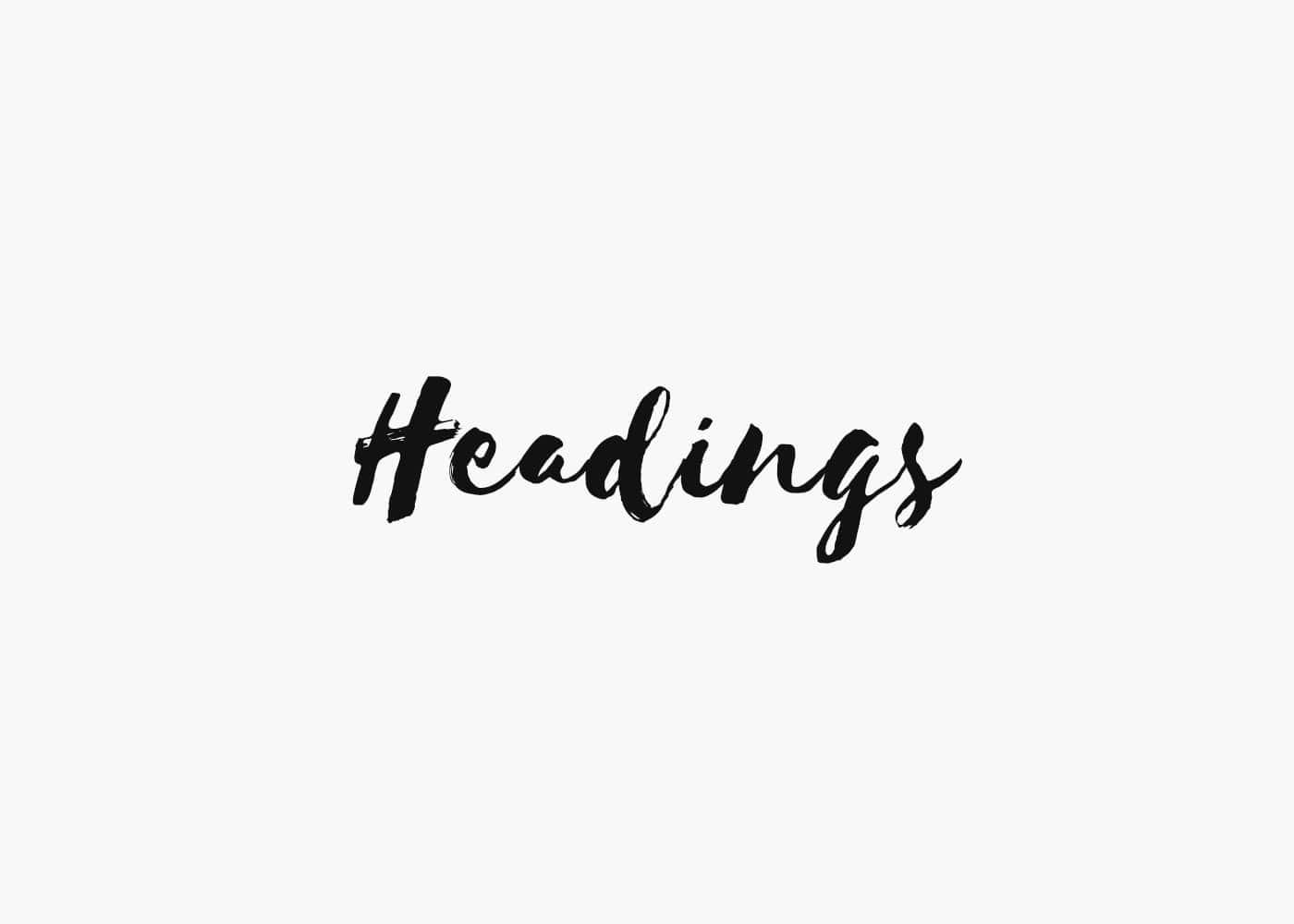 Headings