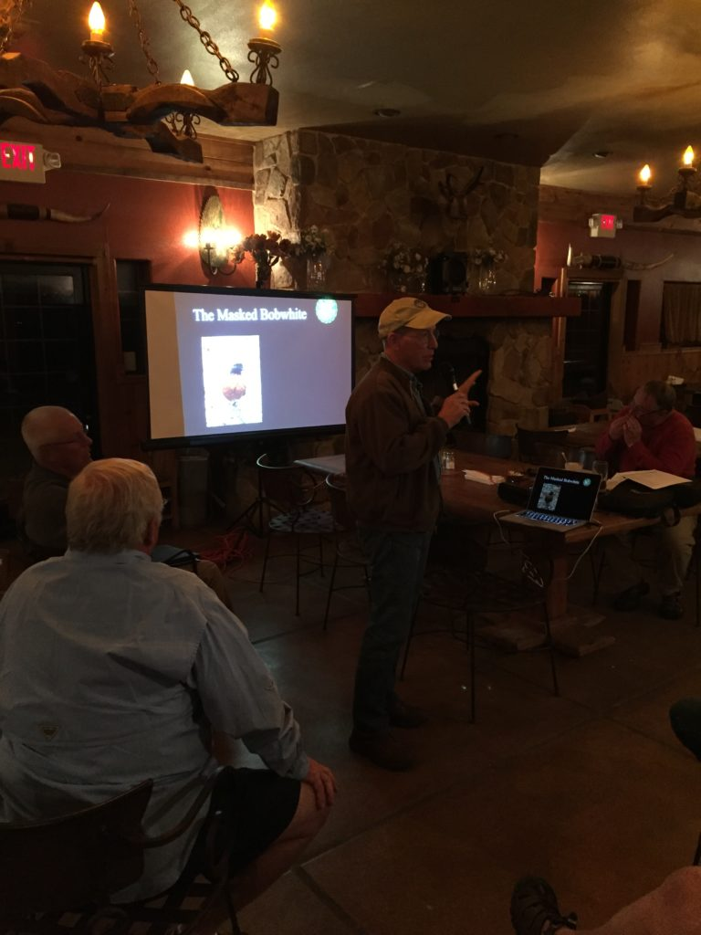 AZ G&F Biologist Randy Babb discussing Masked Bobwhites