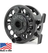 Aspen Mid-Arbor Reel - Shiny Black