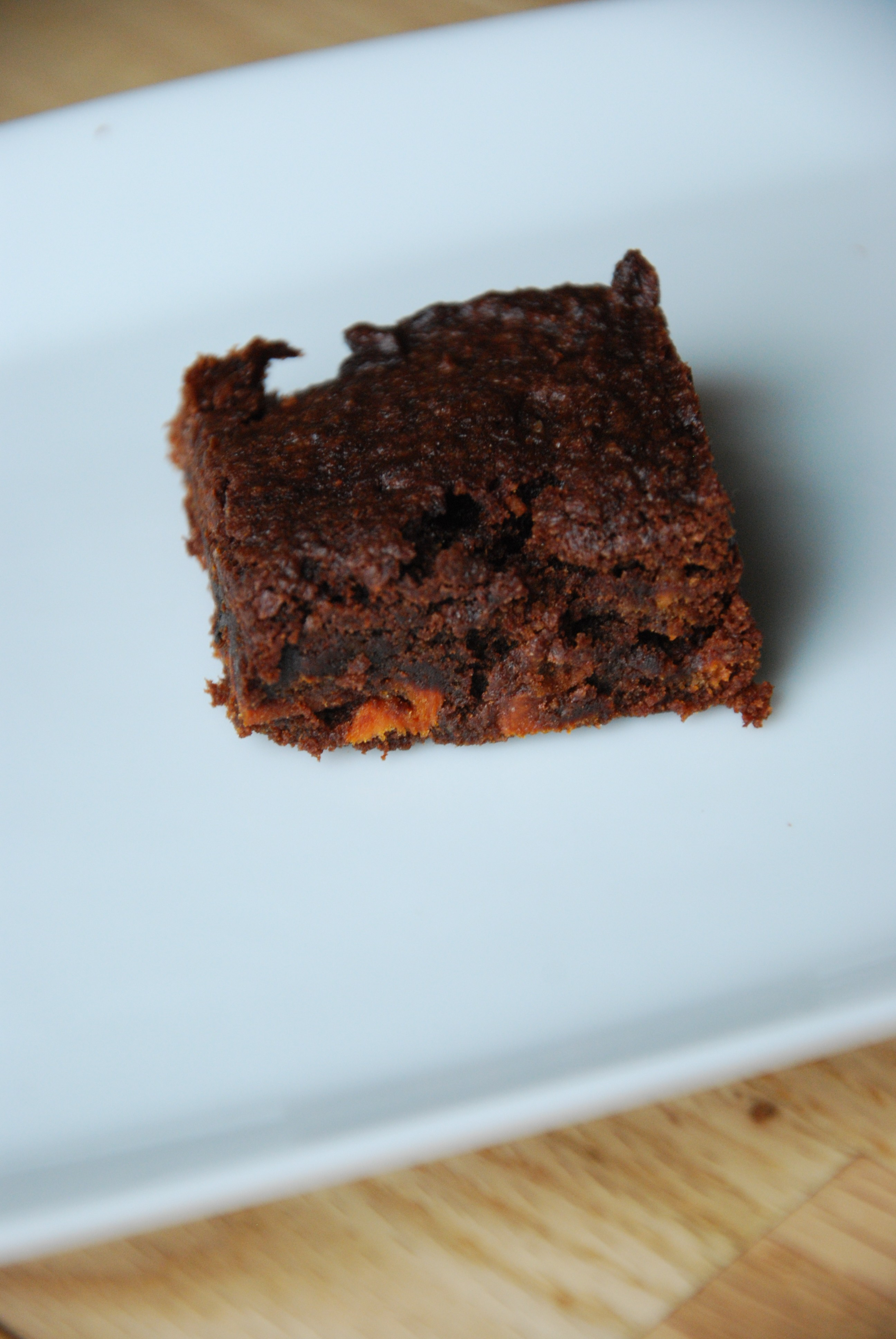 gluten free roasted sweet potato brownies