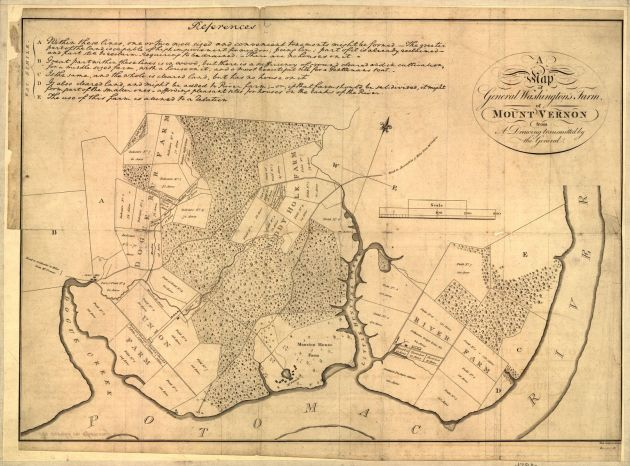 Map of Mount Vernon in 1793