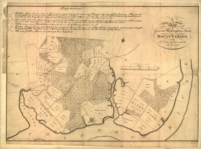 Map of Mount Vernon in 1793, Library of Congress Geography and Maps Division