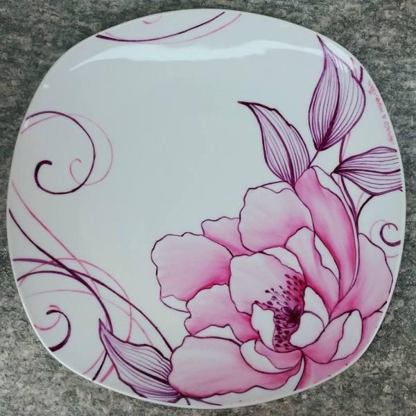 Piatto in porcellana fiori