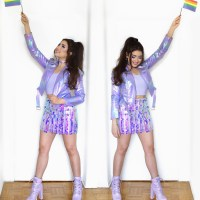 Iridescent Pride Parade Outfit