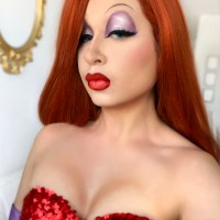 Jessica Rabbit Cosplay + Drag Makeup