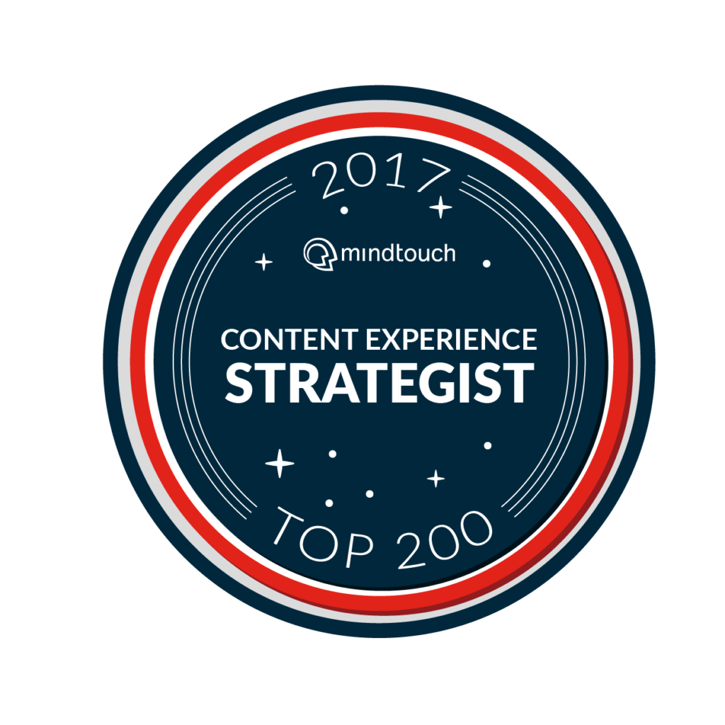 Top Content Experience Strategist 2017