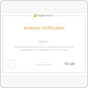Certification: Google Analytics