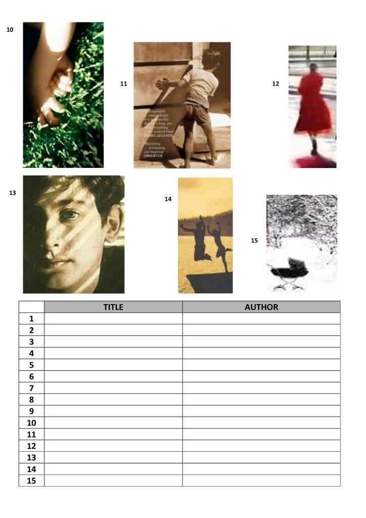 Book Cover Printable Quiz : Try the book cover quiz from shallow breath launch