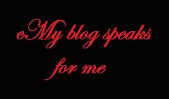 Mein Blog spricht für mich :-)