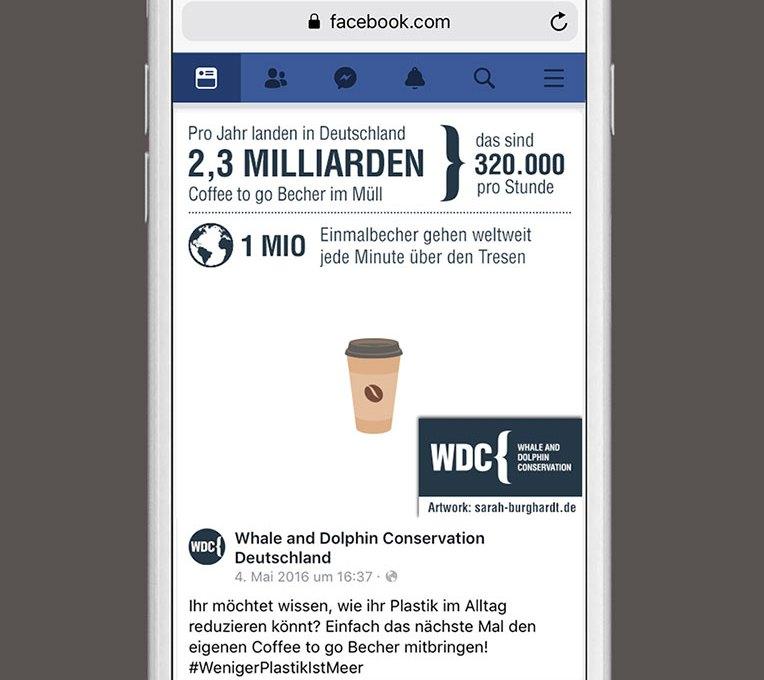 Socilamedia Kampagne gegen plastik