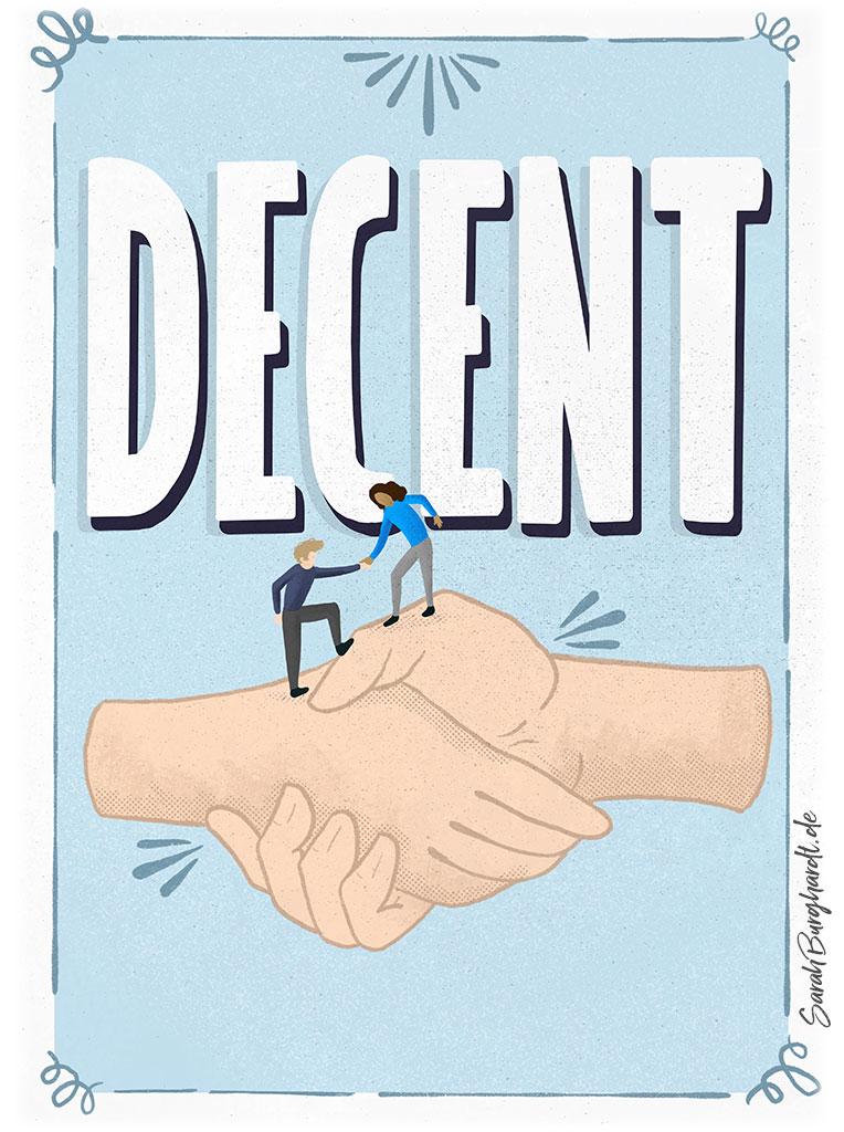 Firmenwerte Decent - Illustration & Lettering
