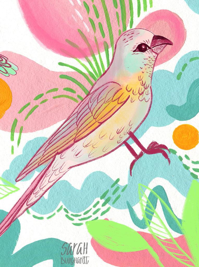 Pattern Vögel by Sarah Burghardt