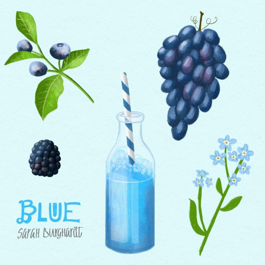 Food Illustration blue