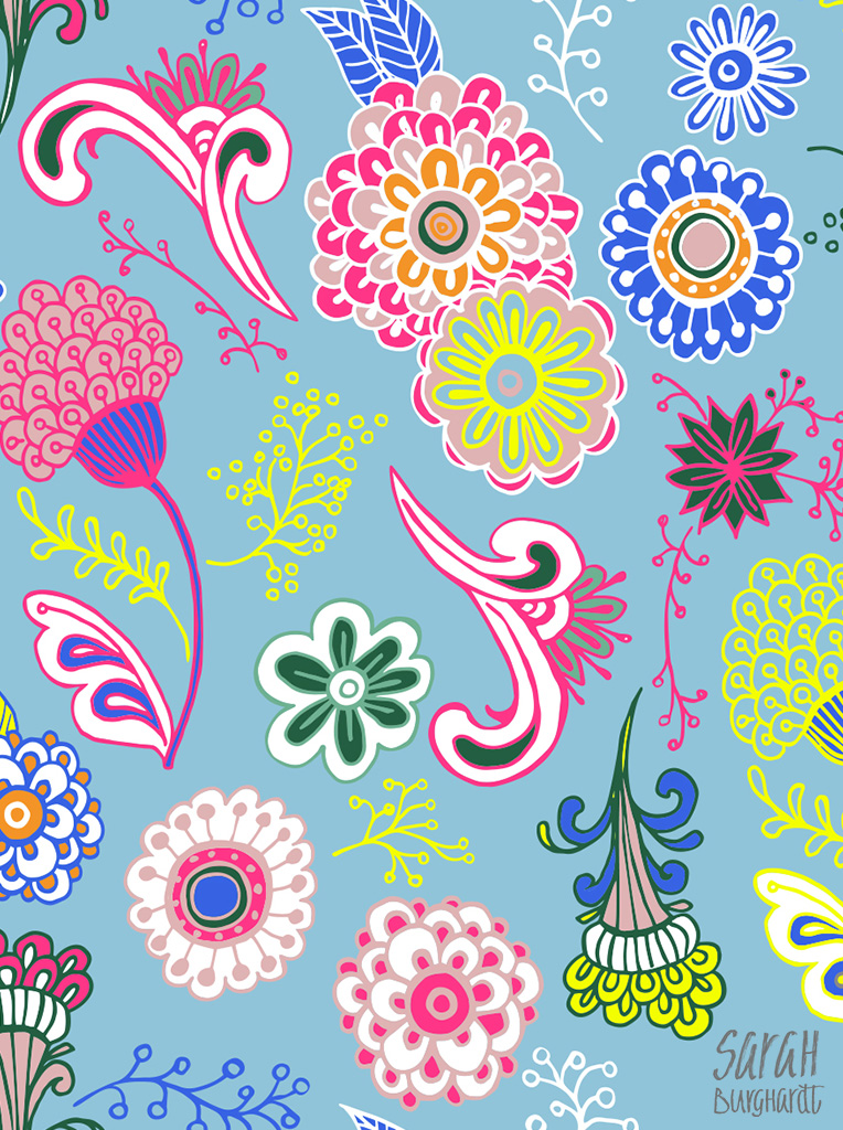 Summer Paisley Pattern by Sarah Burghardt