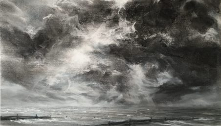 Clouded Seascape, Whitstable. Pastel