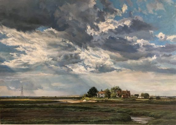 Nagden Marsh. Oil on Panel. (47 x 62 cms)