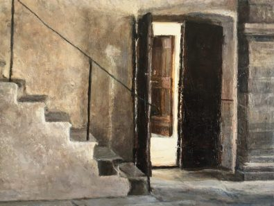 Il Convent dei Carmine, oil on panel, 28 x 34 cms