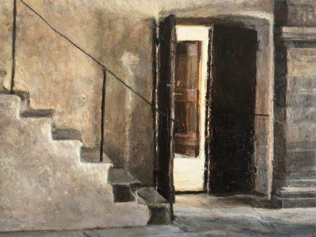 Il Convent dei Carmine, oil on panel, 28 x 34 cms