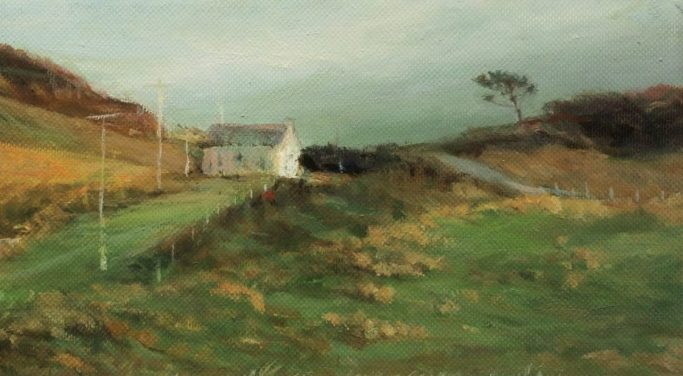 Colonsay Sketch. Oil on board (24 x 28cms)