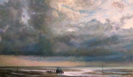 Spencer-Sarah-Tractor at Low Tide, Whitstable.jpg - Copy