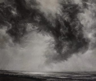 February Sky Over Whitstable. Pastel (65 x 74 cms)