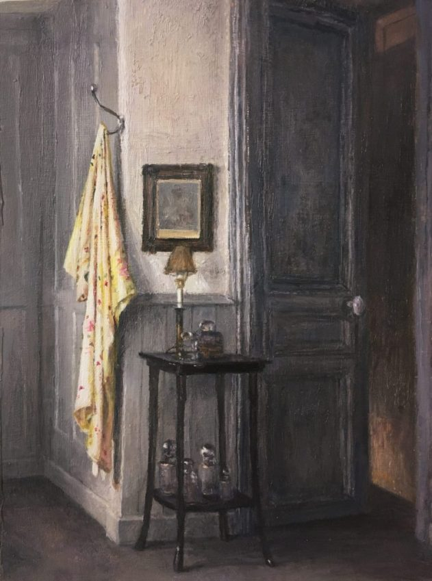 Yellow Gown, Interior. Oil on Panel