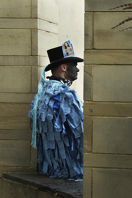 A member of Motley Morris, Sweeps Festival, Rochester