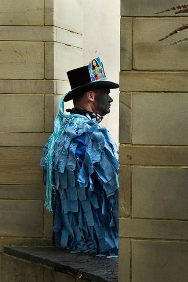 A member of Motley Morris, Sweeps Festival, Rochester, 2009