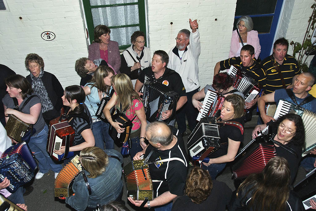 Musicians, May Eve, Padstow, Cornwall