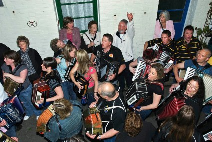Musicians, May Eve, Padstow, Cornwall, 2007