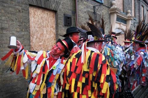 The Red Leicester Morrismen, Whittelsea Straw Bear Festival, Cambridgeshire, 2008